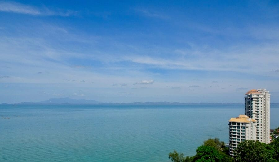 Ocean view from our condo. Expatriate in Malaysia