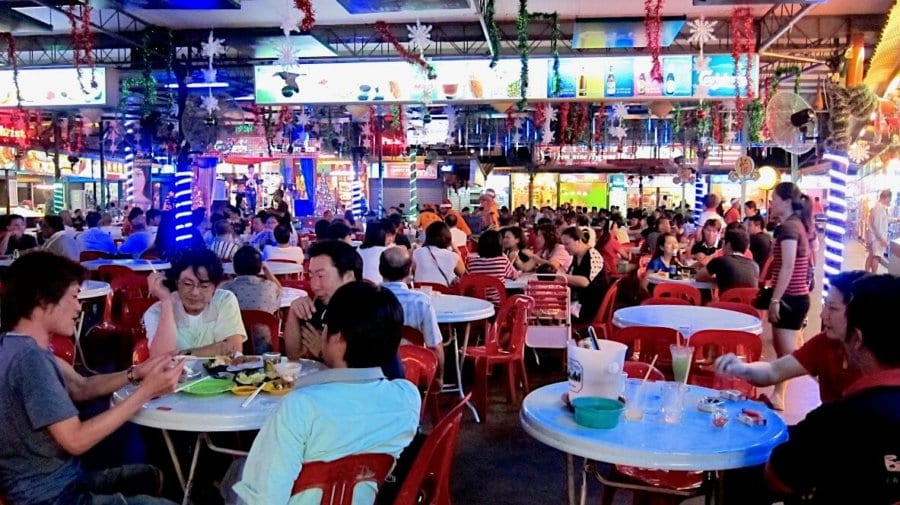 Busy Food Court in Malaysia