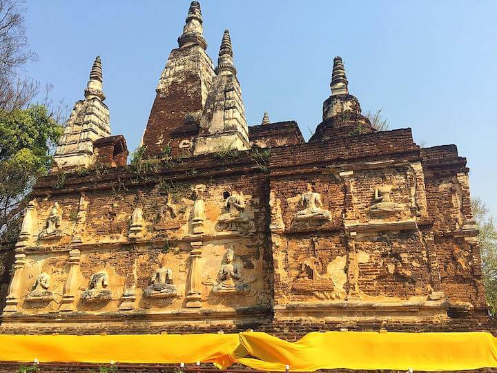 Temple wall in Chiang Mai