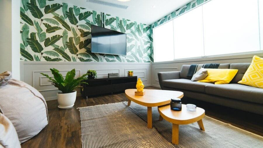 apartment for rent in penang with palm wallpaper